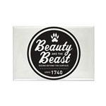Beauty and the Beast Since 1740 Rectangle Magnet (