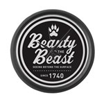 Beauty and the Beast Since 1740 Large Wall Clock
