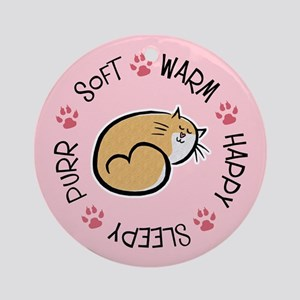 Soft Kitty Ornament (Round)