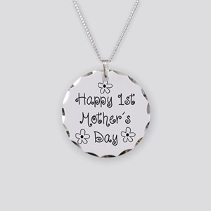 1st Mother's Day Necklace Circle Charm