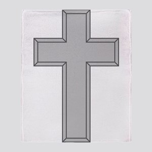 Silver Cross Throw Blanket