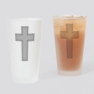 Silver Cross Drinking Glass