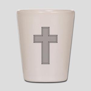 Silver Cross Shot Glass