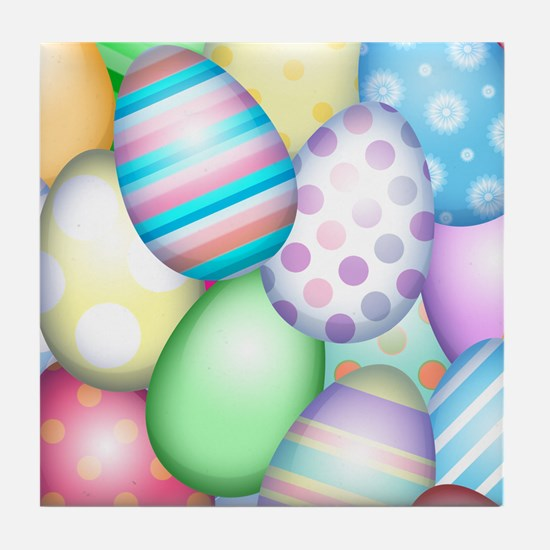Decorated Eggs Tile Coaster