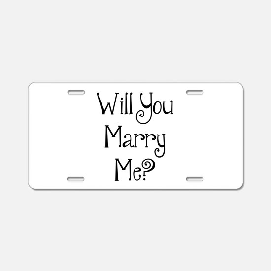 Will You Marry Me? (2) Aluminum License Plate