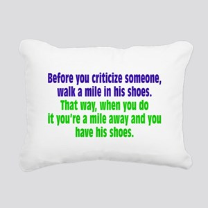 A Mile In Their Shoes Rectangular Canvas Pillow