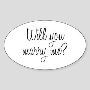 Marry Me Sticker (Oval)