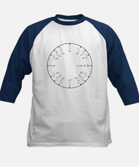 Trigonometry v2 (Rad/Deg) Kids Baseball Jersey