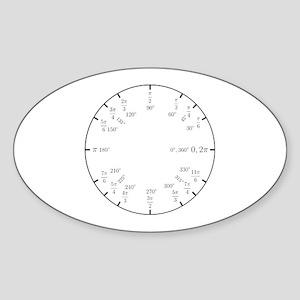 Trigonometry v2 (Rad/Deg) Sticker (Oval)