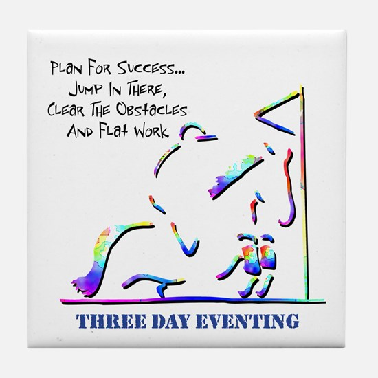 Three Day Eventing Tile Coaster