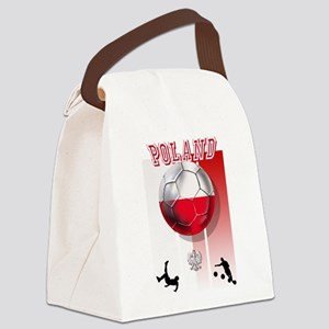 Poland Football Soccer Canvas Lunch Bag