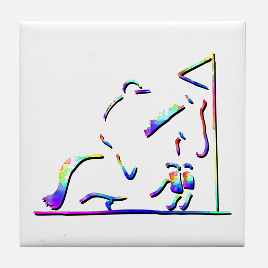 Three Day Eventing Picture Tile Coaster