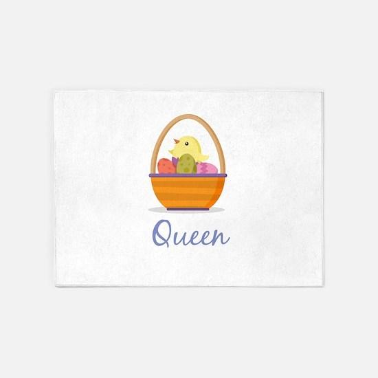 Easter Basket Queen 5'x7'Area Rug