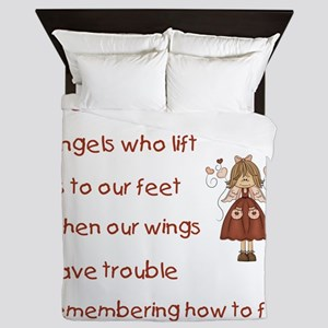 FRIENDS ARE ANGELS... Queen Duvet
