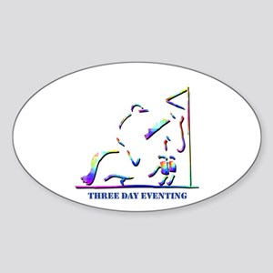 Three Day Eventing Oval Sticker