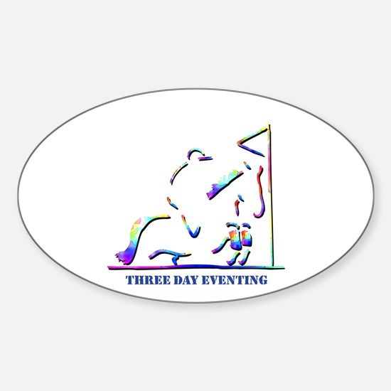Three Day Eventing Oval Decal