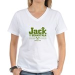 Jack & the Beanstalk Since 1734 Women's V-Neck T-S