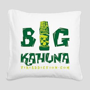 BIG KAHUNA - GREEN Square Canvas Pillow