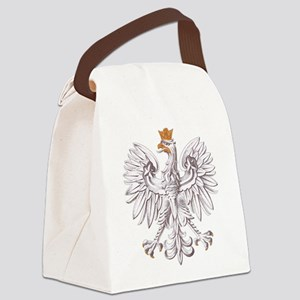 White Eagle of Poland Canvas Lunch Bag