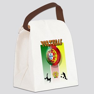 Portugal Football Soccer Canvas Lunch Bag