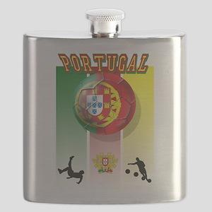 Portugal Football Soccer Flask