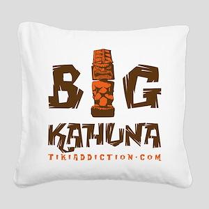 BIG KAHUNA - WOOD Square Canvas Pillow