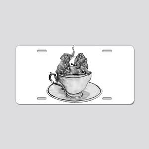 Teacup Elephants Aluminum License Plate