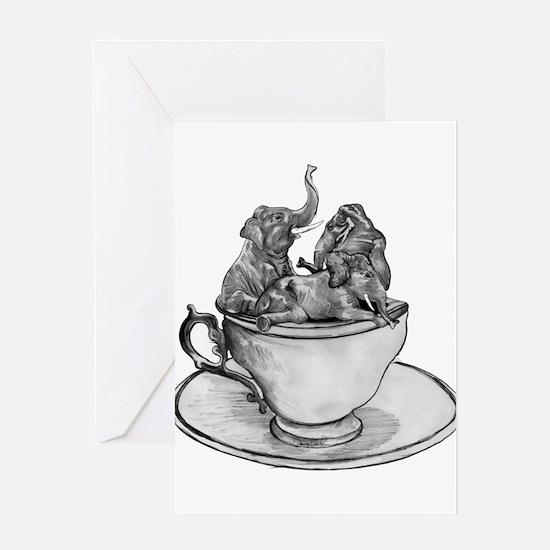 Teacup Elephants Greeting Card