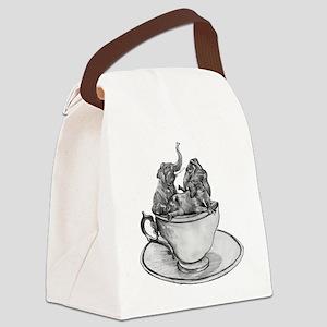 Teacup Elephants Canvas Lunch Bag