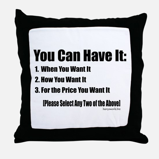 Select Any Two Throw Pillow