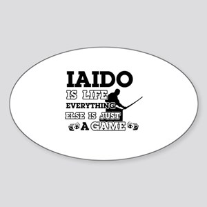 Iaido is life Sticker (Oval)