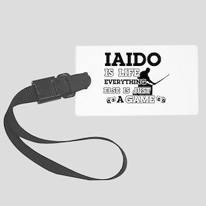 Iaido is life Large Luggage Tag