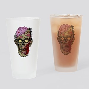 GREEN ZOMBIE HEAD WITH BRAINS--ROTTEN!! Drinking G