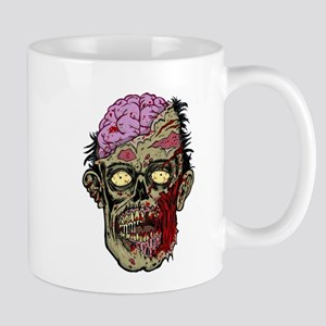 GREEN ZOMBIE HEAD WITH BRAINS--ROTTEN!! Mug