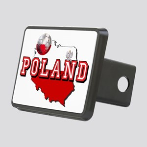 Polish Flag Map Rectangular Hitch Cover
