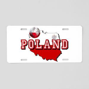 Polish Flag Map Aluminum License Plate