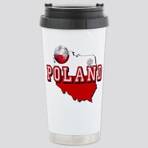 Polish Flag Map 16 oz Stainless Steel Travel Mug
