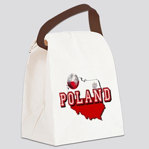 Polish Flag Map Canvas Lunch Bag