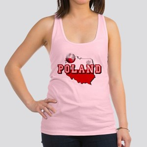 Polish Flag Map Racerback Tank Top