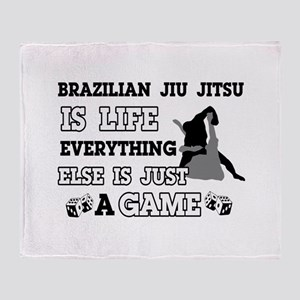 Brazilian Jiu Jitsu is life Throw Blanket
