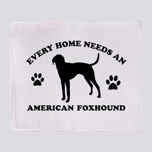 Every home needs an American Foxhound Throw Blanke