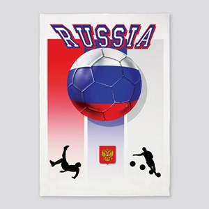 Russian Football 5'x7'Area Rug