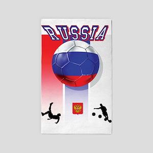 Russian Football 3'x5' Area Rug