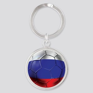 Russian Soccer Ball Round Keychain