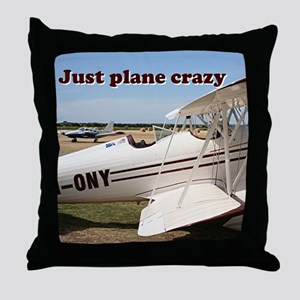 Just plane crazy: Waco aircraft Throw Pillow