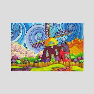 De Kinderdijk Rectangle Magnet