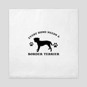 Every home needs a Border Terrier Queen Duvet