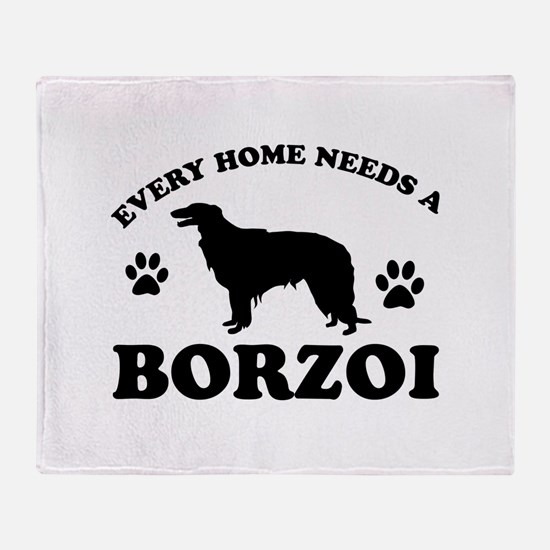 Every home needs a Borzoi Throw Blanket