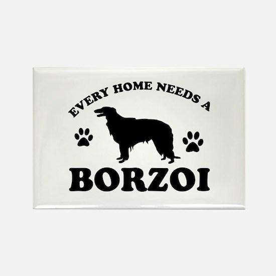 Every home needs a Borzoi Rectangle Magnet
