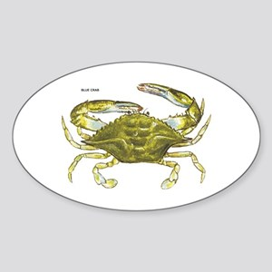 Blue Crab Sticker (Oval)